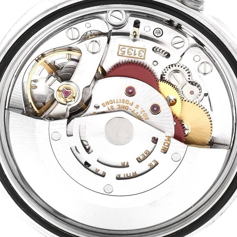 Rolex Datejust Steel White Gold Salmon Diamond Dial Men's Watch 16234 For Sale 5