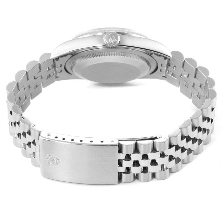 Rolex Datejust Steel White Gold Salmon Diamond Dial Men's Watch 16234 6