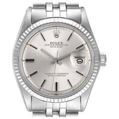 Rolex Datejust Steel White Gold Sigma Dial Vintage Men's Watch 1601