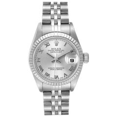 Rolex Datejust Steel White Gold Silver Dial Ladies Watch 79174