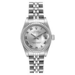 Rolex Datejust Steel White Gold Silver Dial Ladies Watch 79174