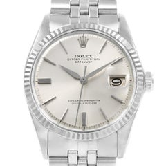 Rolex Datejust Steel White Gold Vintage Men's Watch 1601