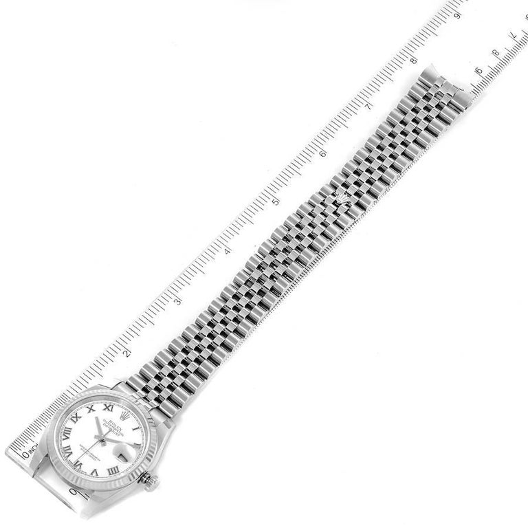 Rolex Datejust Steel White Gold White Roman Dial Mens Watch 116234 For Sale 6