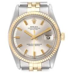 Rolex Datejust Steel White Gold Wide Boy Vintage Men's Watch 1601