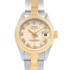 Rolex Datejust Steel Yellow Gold Anniversary Dial Ladies Watch 79173