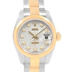 Rolex Datejust Steel Yellow Gold Anniversary Diamond Ladies Watch 179163