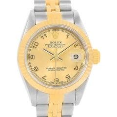 Rolex Datejust Steel Yellow Gold Arabic Dial Ladies Watch 79173
