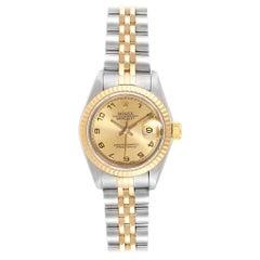 Rolex Datejust Steel Yellow Gold Arabic Numerals Ladies Ladies Watch 69173