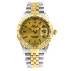 Rolex Datejust Steel Yellow Gold Champagne Dial Automatic 1991 Men's Watch 16263