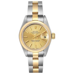 Rolex Datejust Steel Yellow Gold Champagne Dial Ladies Watch 79163