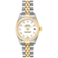 Rolex Datejust Steel Yellow Gold Diamond Dial Ladies Watch 69173