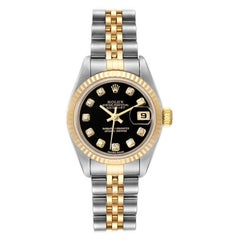 Rolex Datejust Steel Yellow Gold Diamond Dial Ladies Watch 79173