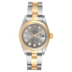 Rolex Datejust Steel Yellow Gold Diamond Ladies Watch 69163