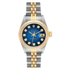 Rolex Datejust Steel Yellow Gold Diamond Ladies Watch 69173