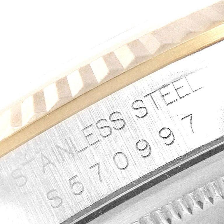 Rolex Datejust Steel Yellow Gold Diamond Men's Watch 16233 Box For Sale 4