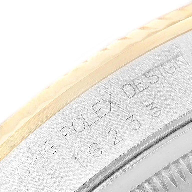 Rolex Datejust Steel Yellow Gold Diamond Men's Watch 16233 Box For Sale 5