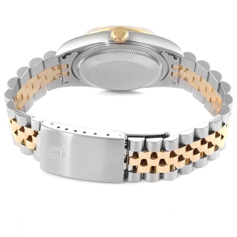 Rolex Datejust Steel Yellow Gold Diamond Men's Watch 16233 Box For Sale 6