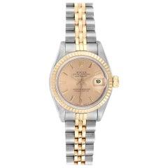 Rolex Datejust Steel Yellow Gold Fluted Bezel Ladies Ladies Watch 69173