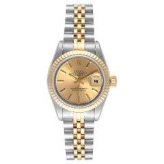 Rolex Datejust Steel Yellow Gold Jubilee Bracelet Ladies Ladies Watch 69173
