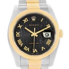 Rolex Datejust Steel Yellow Gold Jubilee Roman Dial Men's Watch 116203