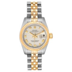 Rolex Datejust Steel Yellow Gold Ladies Watch 179173 Box Papers
