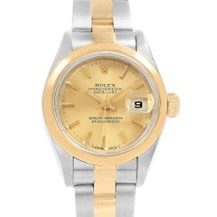 Rolex Datejust Steel Yellow Gold Ladies Watch 69163 Box Papers