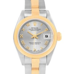 Rolex Datejust Steel Yellow Gold Ladies Watch 79163 Box Papers