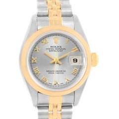 Rolex Datejust Steel Yellow Gold Ladies Watch 79163 Papers