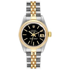 Rolex Datejust Steel Yellow Gold Ladies Watch 79173 Box Papers