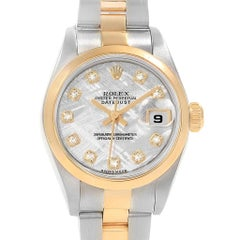 Rolex Datejust Steel Yellow Gold Meteorite Diamond Ladies Watch 79173