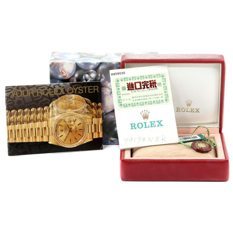 Rolex Datejust Steel Yellow Gold MOP Ruby Ladies Watch 79173 Box Papers For Sale 8