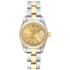 Rolex Datejust Steel Yellow Gold Oyster Bracelet Ladies Watch 69173