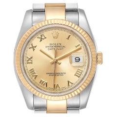Rolex Datejust Steel Yellow Gold Oyster Bracelet Men's Watch 116233