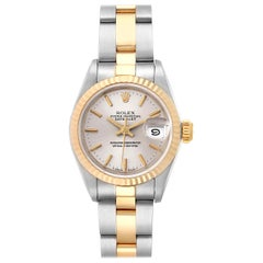 Rolex Datejust Steel Yellow Gold Silver Dial Ladies Watch 69173