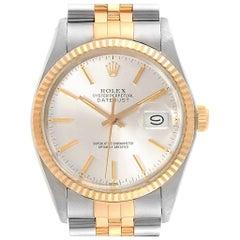 c7541902e2a Rolex Datejust Steel Yellow Gold Blue Dial Vintage Men's Watch 16013 ...