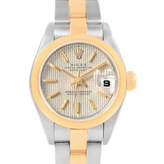 Rolex Datejust Steel Yellow Gold Tapestry Dial Ladies Watch 79163