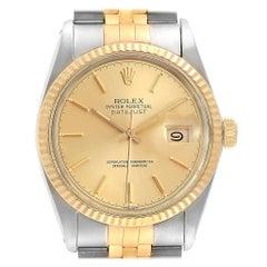Rolex Datejust Steel Yellow Gold Vintage Men's Watch 16013