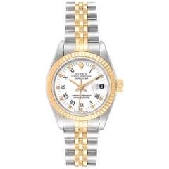 Rolex Datejust Steel Yellow Gold White Dial Ladies Watch 69173