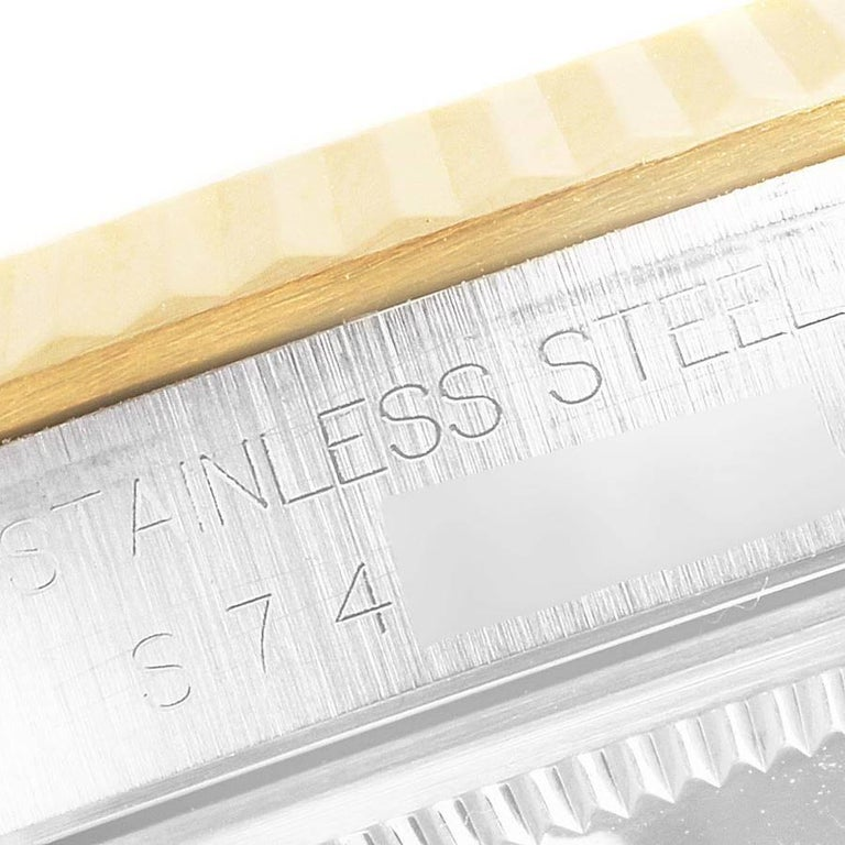 Rolex Datejust Steel Yellow Gold White Roman Dial Men's Watch 16233 3