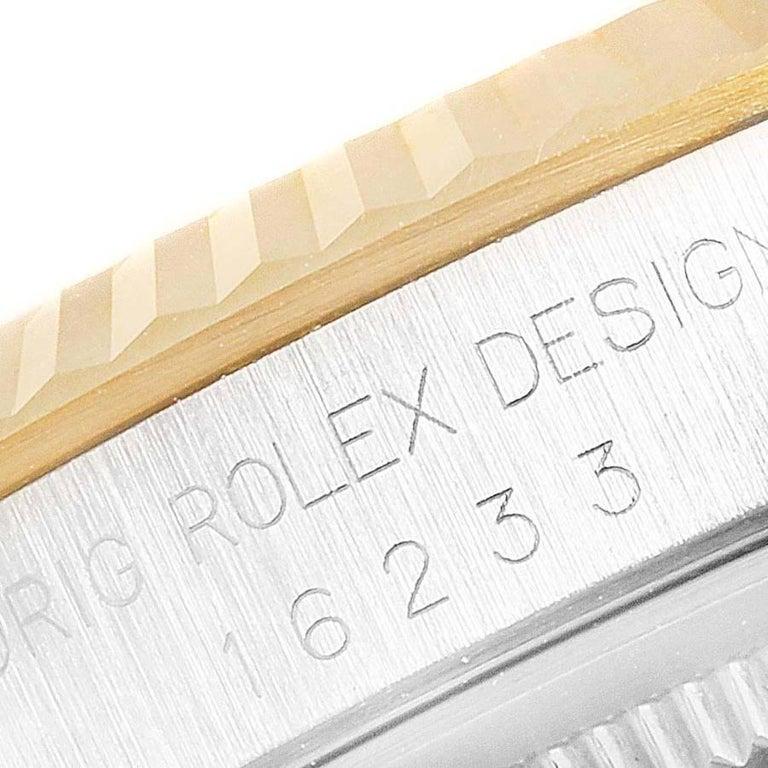 Rolex Datejust Steel Yellow Gold White Roman Dial Men's Watch 16233 4