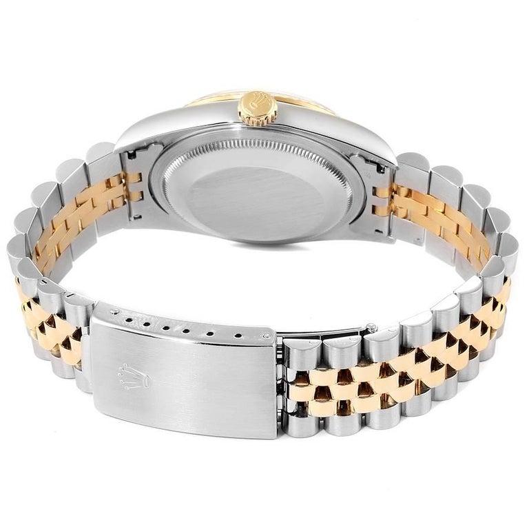 Rolex Datejust Steel Yellow Gold White Roman Dial Men's Watch 16233 6