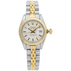 Rolex Datejust Steel Yellow Gold White Sticks Dial Automatic Ladies Watch 69173
