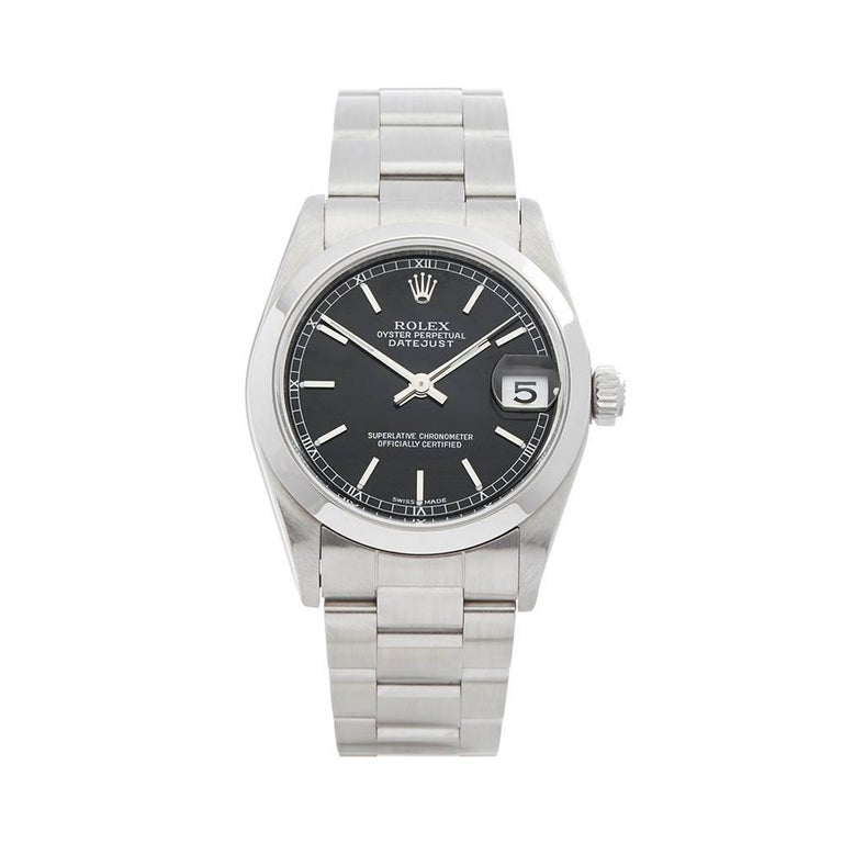 Rolex Datejust Stainless Steel Women s 78240 For Sale at 1stdibs d0b9fa36af