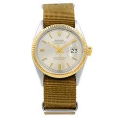 Rolex Datejust Sticks Pie Pan Dial Steel Automatic Yellow Gold Men's Watch 1601
