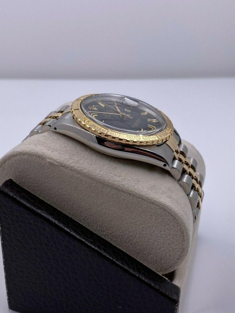 Rolex Datejust Thunderbird 16253 18 Karat Yellow Gold Stainless Steel Box Papers In Good Condition For Sale In San Diego, CA