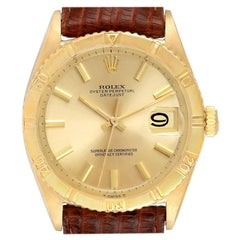 Rolex Datejust Turnograph 18 Karat Yellow Gold Vintage Men's Watch 6609