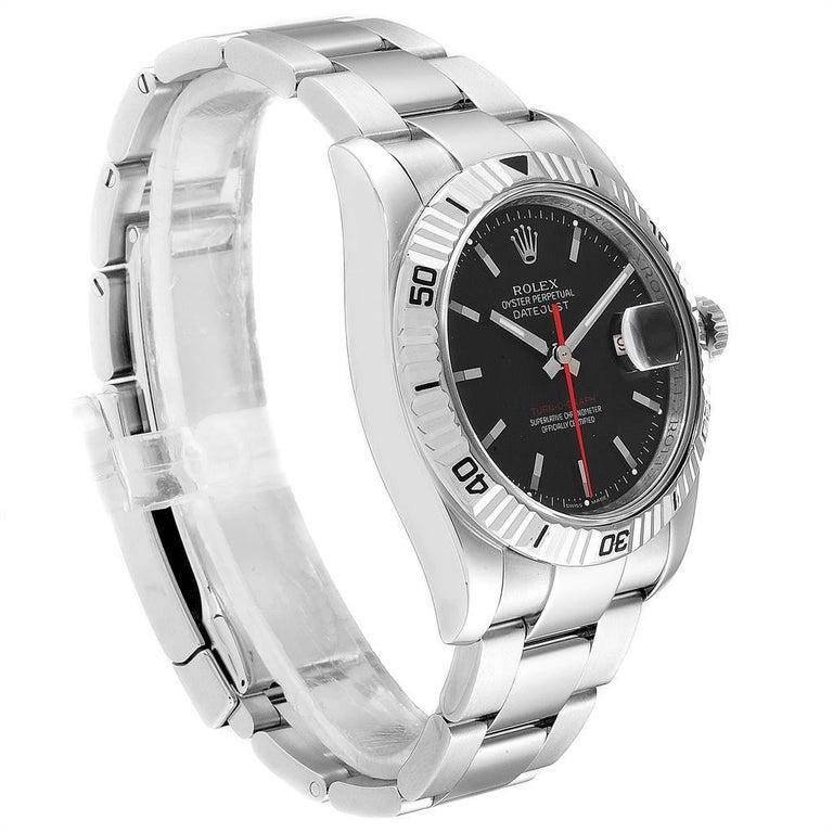 Rolex Datejust Turnograph Red Hand Steel Men #39 s Watch