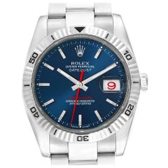 Rolex Datejust Turnograph Blue Dial Oyster Bracelet Men's Watch 116264