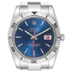 Rolex Datejust Turnograph Blue Dial Oyster Bracelet Men's Watch 116264