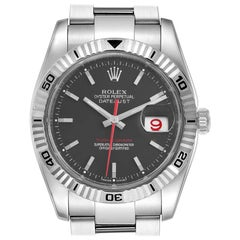 Rolex Datejust Turnograph Red Hand Steel Men's Watch 116264